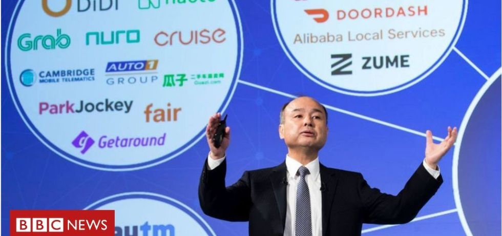 softbank vision with CEO shown