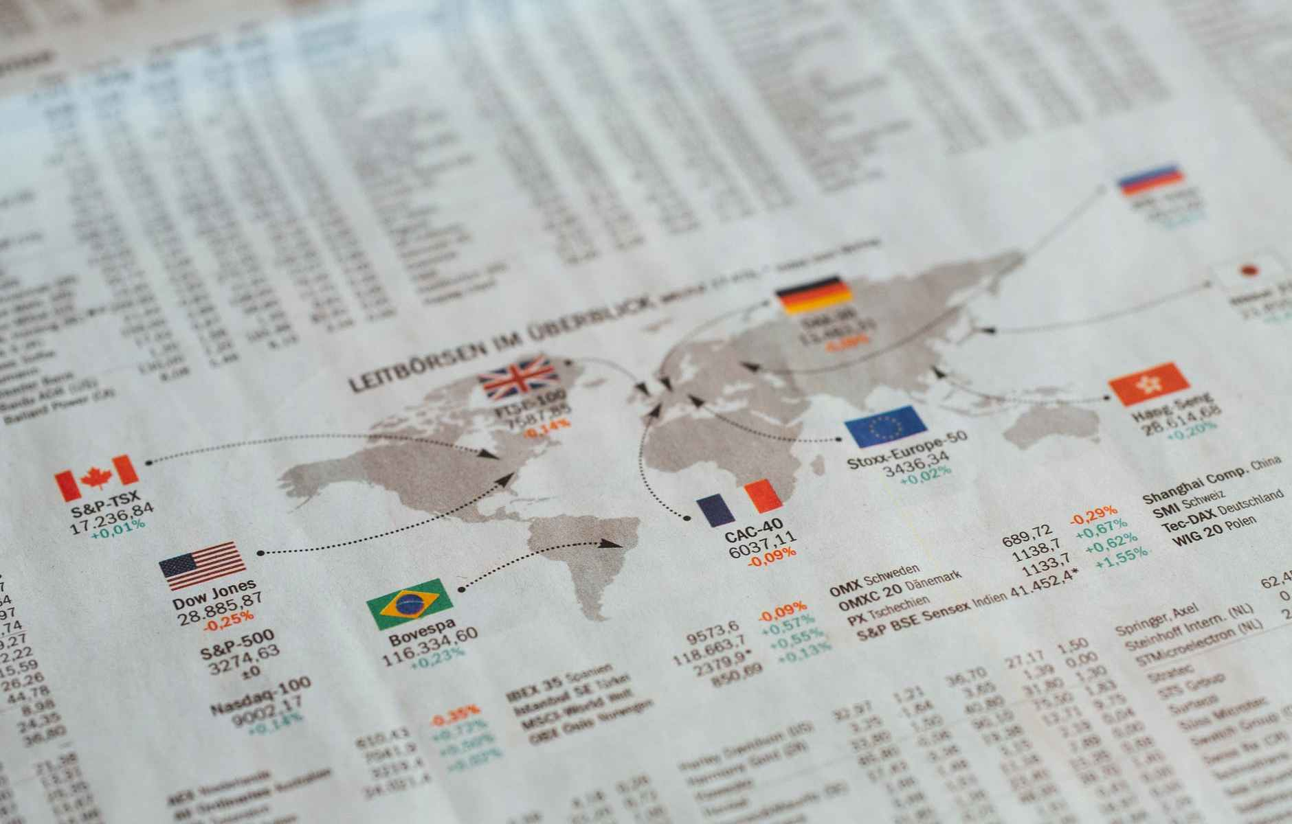 Index of stock exchanges in the world