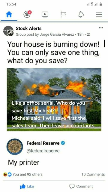 Like a office serial. Who do you save first Micheal? Micheal said: i will save first the sales team. Then leave accountants.